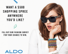 Aldo Shoes Contest – Win $500 Shopping Spree