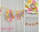 DIY Frugal Spring Garland