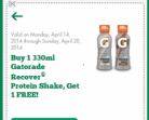 7-Eleven Coupon – Gatorade B1G1 Free + Cadbury Easter Singles 2 For $2.00
